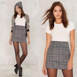 MOTEL Nasty Gal Diaz Glan Plaid Mini Skirt